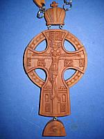Крест иерейский (наградной)  деревяный. Ручная работа. Резьба