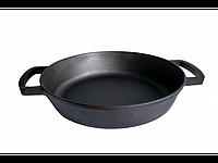 Сковорода жаровня чугунная без ручки 360х80 мм