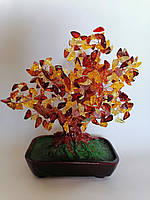 Янтарь Дерево счастья из янтаря Денежное дерево Янтарное Прессованный янтарь