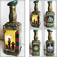 Подарунок чоловікові прикордоннику пляшка Сувенірна прикордонні війська Сувеніри військової тематики