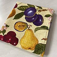 Готове вафельний рушник з фруктами 45х70 см, фото 1