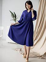 Шикарное однотонное женское платье на лето  размер 50-52
