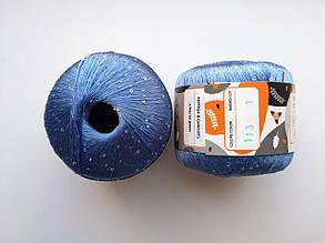 Пряжа Диаманте Пайет Ярна Италия, с пайетками, цвет голубой/диамант 113/250