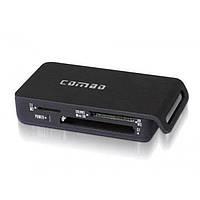 Картридер Bullfinch 0515, внешний, USB 2.0, SD/MMC, dual- port, картридеры, кардридер, Cardreader