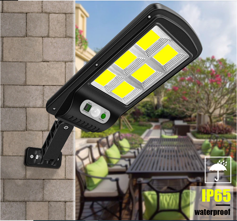 Ліхтар вуличний яскравий світлодіодний на сонячній батареї з датчиком руху і різним нахилом BK-818-6