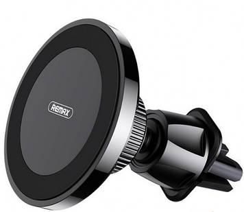 Автомобільний тримач для телефону Remax RM-C41 з безпровідною зарядкою black
