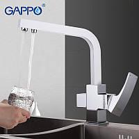 Змішувач для кухні Gappo G4307 на дві води