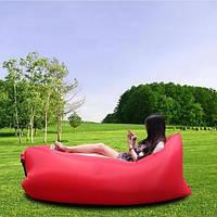 Ламзак надувной с подушкой Lamzak размер 150х90см, разные цвета, нейлон, до 200кг, подушка 70х30см, Надувной