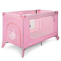 Детский манеж ME 1016 SAFE Heart pink, розовый