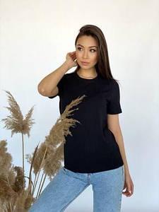 Женская базовая футболка прямого кроя 42-48 р