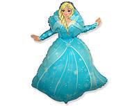 """Шар фольга """"Принцесса Эльза"""" мини. Размер: 32cm X 25cm. Пр-во """"FlexMetal"""" (Испания)"""