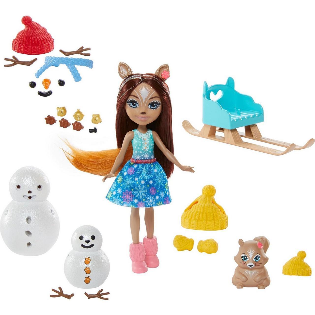 Игровой набор Энчантималс Белочки и снеговички Снежные забавы Enchantimals GNP16