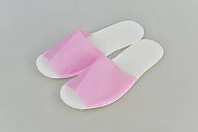 Тапочки одноразовые 36-40 розовые 25 пар