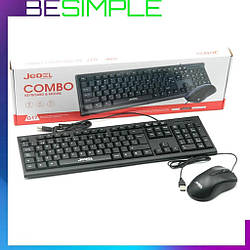 Клавіатура + миша дротова JEDEL COMBO G10+ / Комп'ютерна клавіатура / Миша