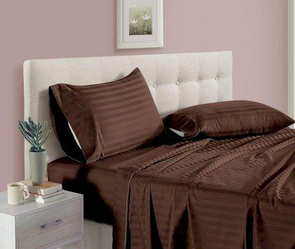 U-tek Home Sateen Brown Stripe ,Двоспальний комплект