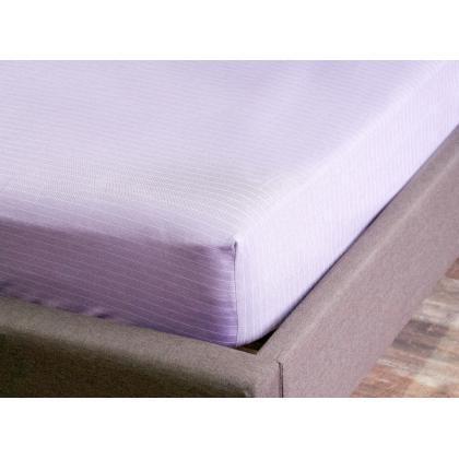 Простынь натяжная Plum-White 150x200 см