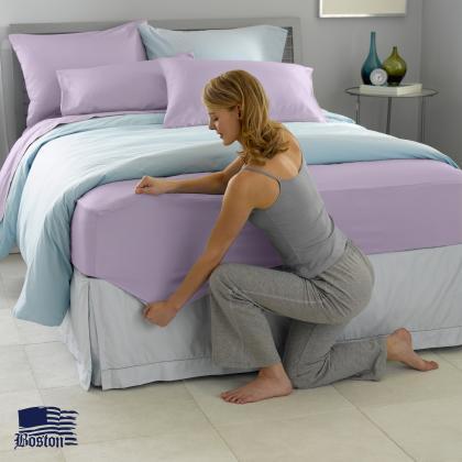 Простирадло натяжна U-tek Home Sateen Lilac 90X190 см