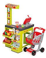Детский супермаркет интерактивный Smoby с тележкой 350202