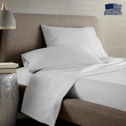 Постельный комплект U-tek Home Sateen White (белый) (полуторный евро)