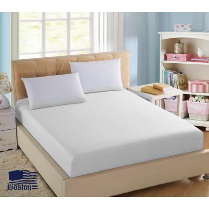 Простынь U-tek Home Sateen white белая 240X260 см