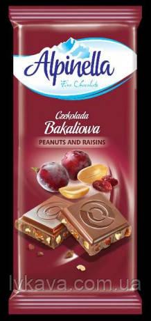 Молочный шоколад Alpinella Bakaliowa , 100 гр, фото 2