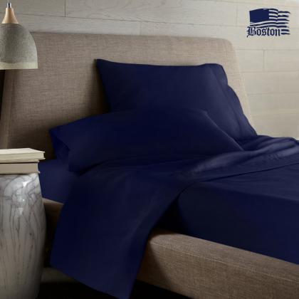 Постельный комплект U-tek Home Sateen Dark Blue (темно-синий) (полуторный евро)