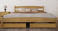 """Кровать с деревянными ламелями """"Ликерия"""" 140х200"""