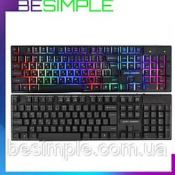 Дротова клавіатура / Комп'ютерна клавіатура JEDEL K500+ (20)A17(95584) / Клавіатура з підсвічуванням