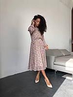 Сукня міді рожеві квіти, фото 1