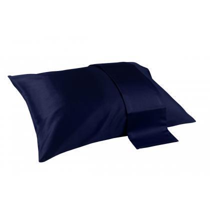 Наволочка Oxford Dark Blue (темно-синій) 60x60