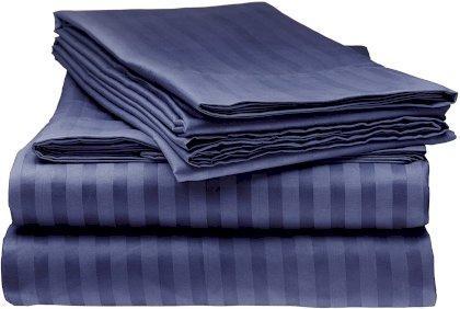 Простирадло натяжне U-tek Home Violet Night Stripe 150х190