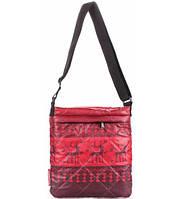 Сумка-планшет женская стёганая POOLPARTY с оленями красная, фото 1