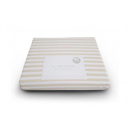 Простынь натяжная 120х200 U-TEK Hotel Collection Cotton Stripe Orange 30