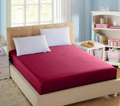 Простирадло натяжна U-tek Home Sateen Red (червоний) 160х200 см