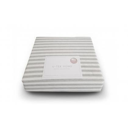 Простынь натяжная 140х200 U-TEK Hotel Collection Cotton Stripe Grey 30