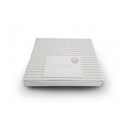 Простынь натяжная 160х190 U-TEK Hotel Collection Cotton Stripe Grey 20