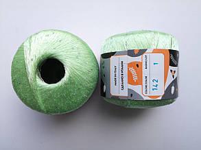 Пряжа Диаманте Пайет Ярна Италия, с пайетками, цвет зелен пепел/диамант 142/250