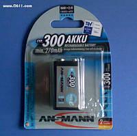 Аккумулятор KRONA (6F22) Ansmann Ni-MH 300мАч maxE (blister)