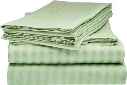 Простынь натяжная  U-tek Home Mint Stripe 150х190 см