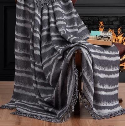 Плед-накидка Eponj Home Buldan Keten - Desibel 170*220 siyah черный