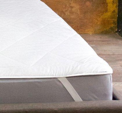 Стеганный наматрасник на резинках по углам Simple 150x190 см