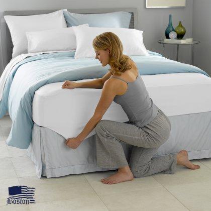 Простынь натяжная U-tek Home Sateen White (белый) 140х190 см
