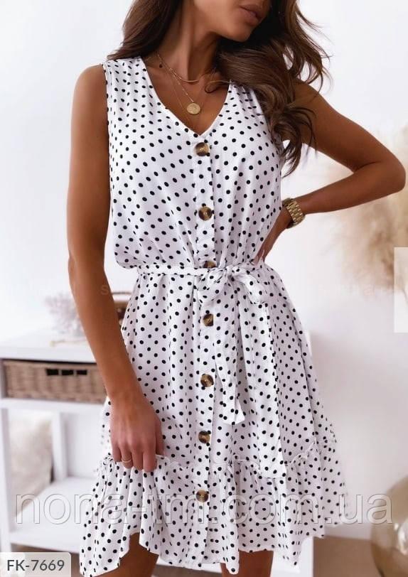 Жіноче літнє плаття з поясом
