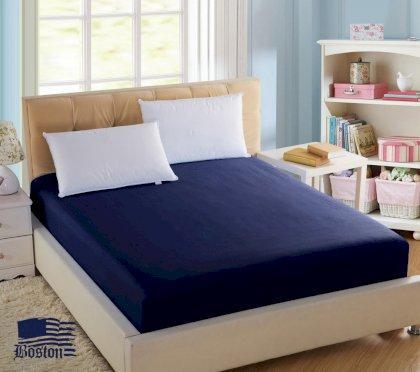 Простирадло Dark Blue (темно-синій) 200x220 см