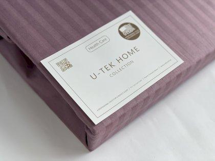 Простынь натяжная U-tek Home Light Bordo Stripe 120х190 см