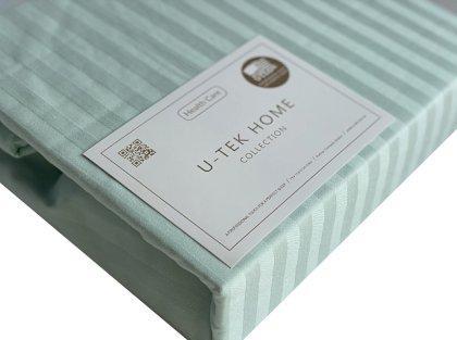 Простынь натяжная U-tek Home Light Mint Stripe 120х190 см