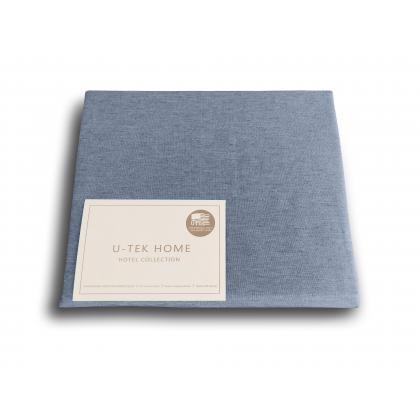 Простынь натяжная U-TEK Hotel Collection Cotton Melange Blue 80х190