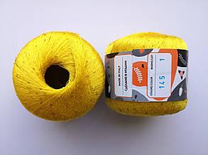 Пряжа Диаманте Пайет Ярна Италия, с пайетками, цвет лимонный 145/250