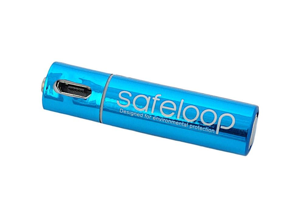 Батарея – акумулятор AAA micro USB 450mAh 1.5 V Safeloop з індикатором заряду (450мАч 1.5)