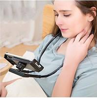 Підставка для телефону Гнучкий тримач для смартфона універсальний (на шию), Holder Waist Чорний, підставка для